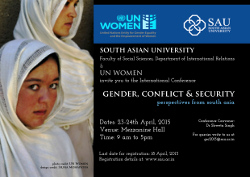 Gender, Conflict and Security